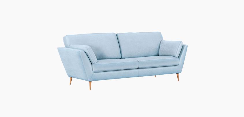 Wood cloth sofa